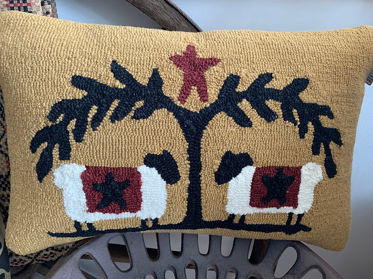 Country Knit Sheep Pillow