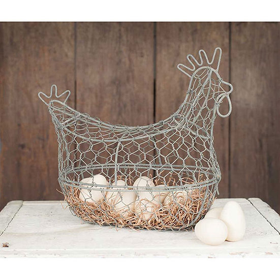 Chicken Wire Egg Basket - Barn Roof