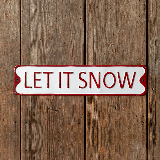 Let it Snow Metal Wall Sign