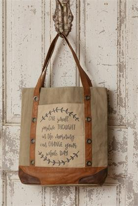 Canvas Tote Bag - One Small Positive Thought