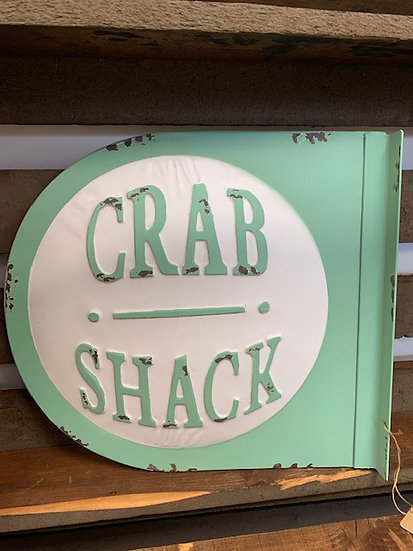 Metal Crab Shack Sign
