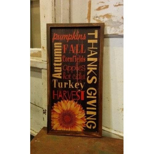 "Autumn Harvest Fall Sign 19.75"" x 10"""