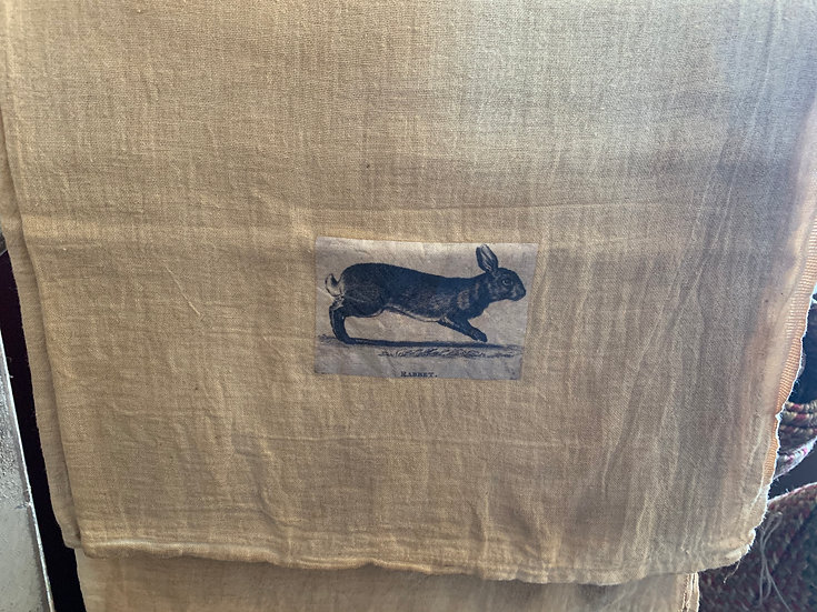 Grungy Tea Stained Dish Towel
