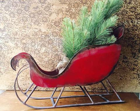 Metal Red Sled