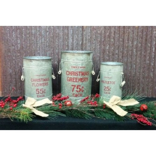 Tree Farm Metal Buckets (set of 3)