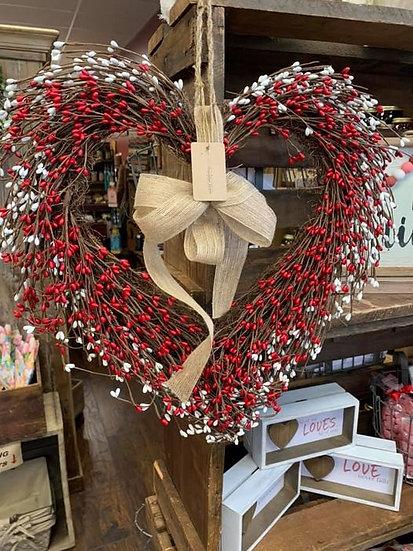 Heart Pip Wreath