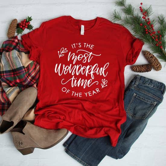Most Wonderful Time Christmas Tee