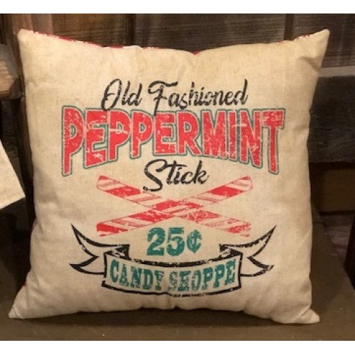 "Peppermint Pillow 12"" x 12'"