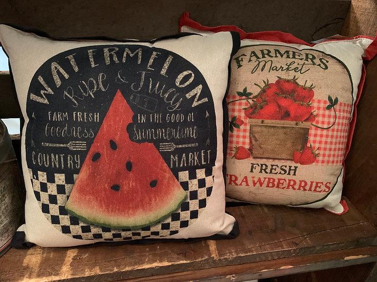 Farmers Market Pillow