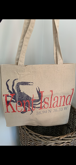 Crab Canvas Large Tote