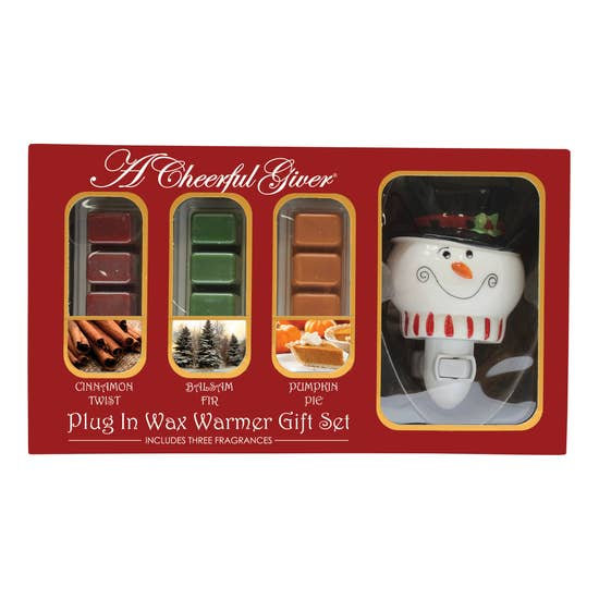 Snowman Plug In Warmer Gift Set