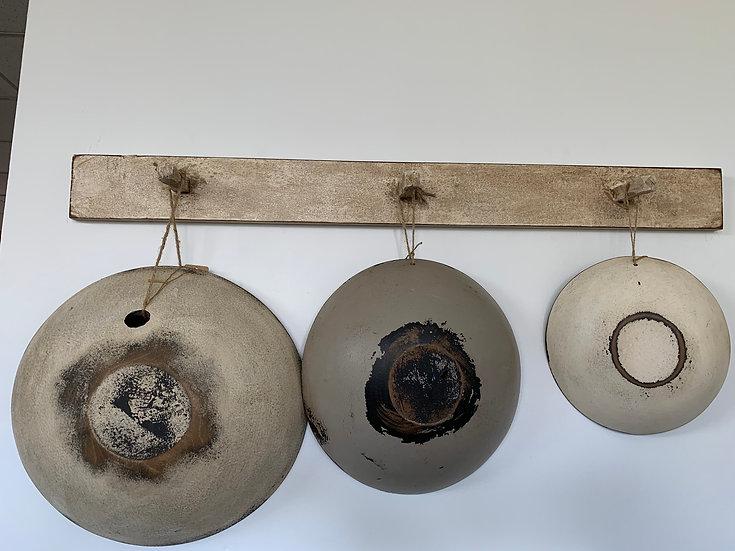 Primitive Hanging Wood Dough Bowl