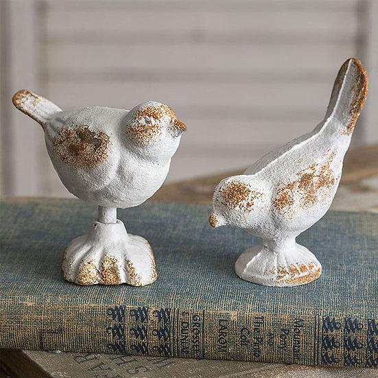 Set of Two Cast Iron Birds