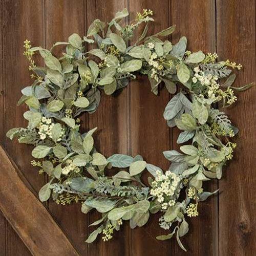 Mixed Lamb's Ear Wreath