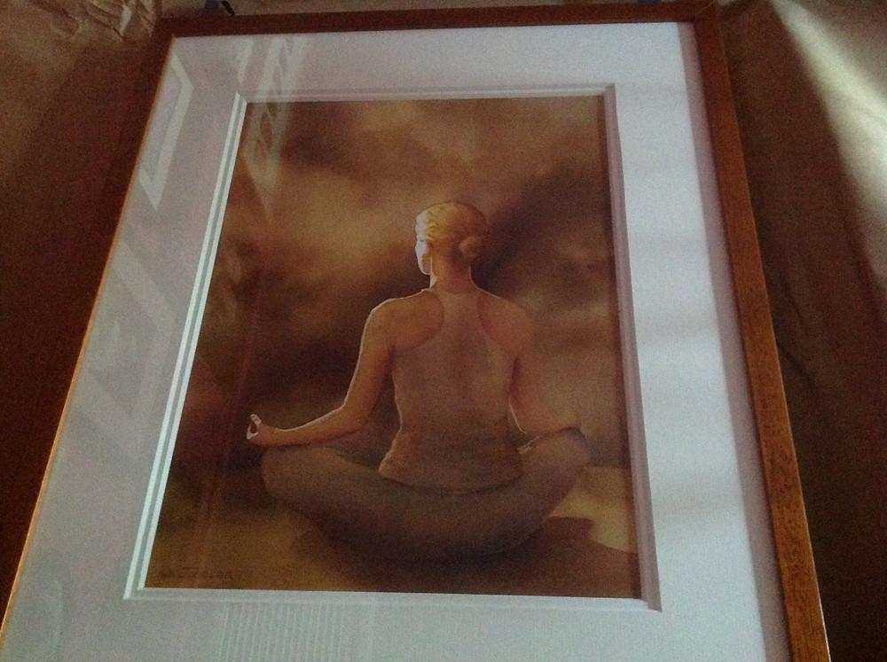 Meditation in Sukasana