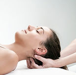 Close up of  chiropractor pressing back