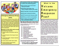 What is the Volcano Emergency Response Plan?
