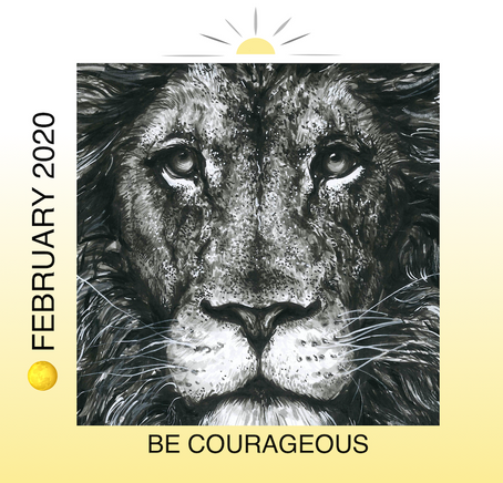 🌕 FULL MOON FEBRUARY 8TH IN LEO: BE COURAGEOUS