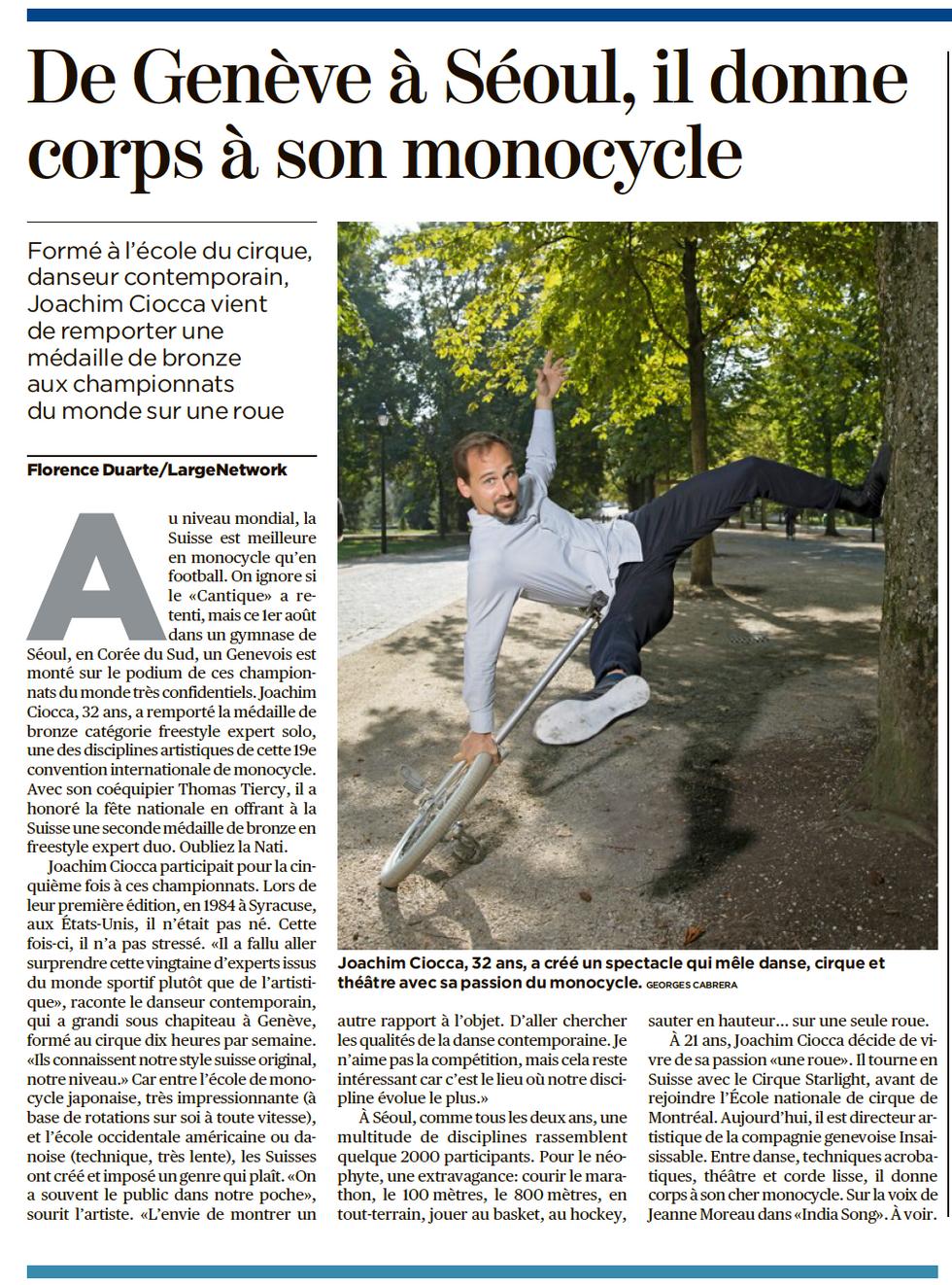 """Tribune de Genève, """"Nouvelle vague"""" du 11 septembre 2018"""