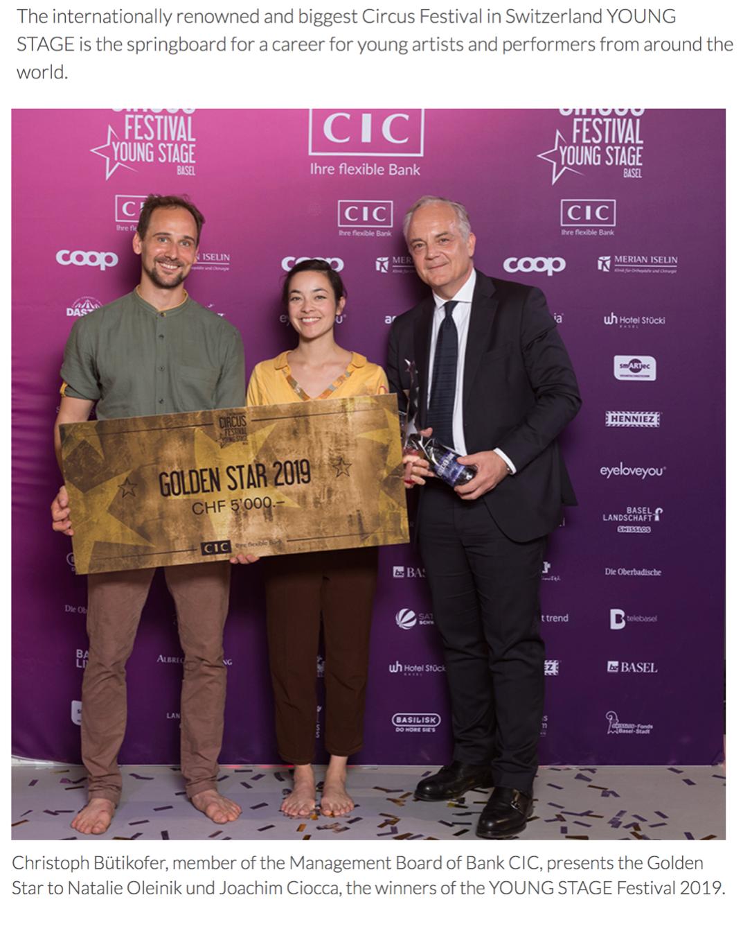 """No Longer Strangers"" Golden Star / Cirque du Soleil Prize at Young Stage 2019"