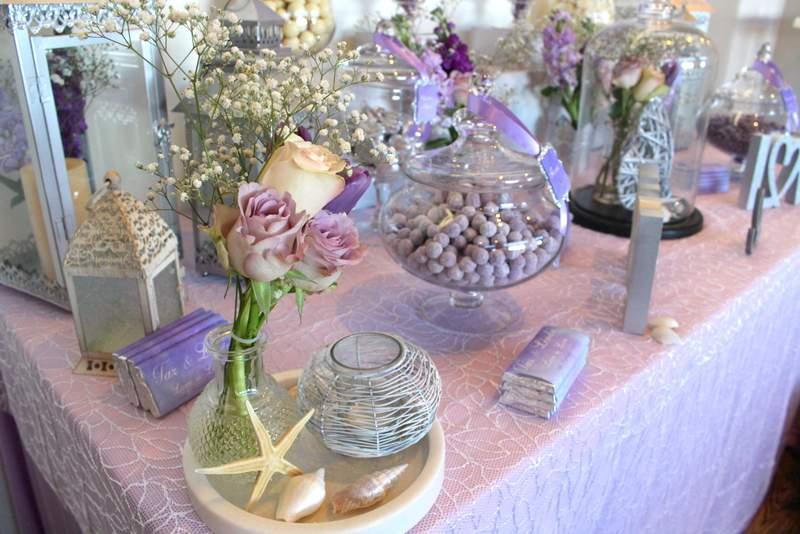 Lilac & Silver Coastal Wedding
