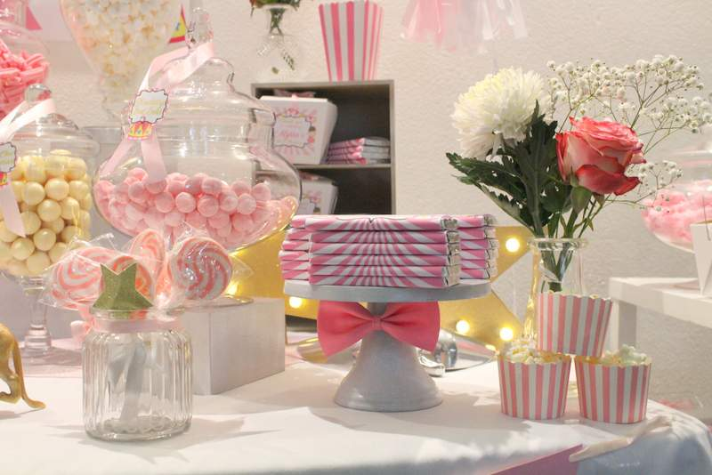 Pink Carnival Circus 1st Birthday