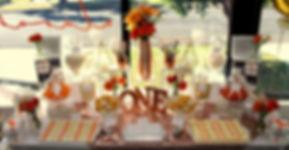 Orange dessert buffet