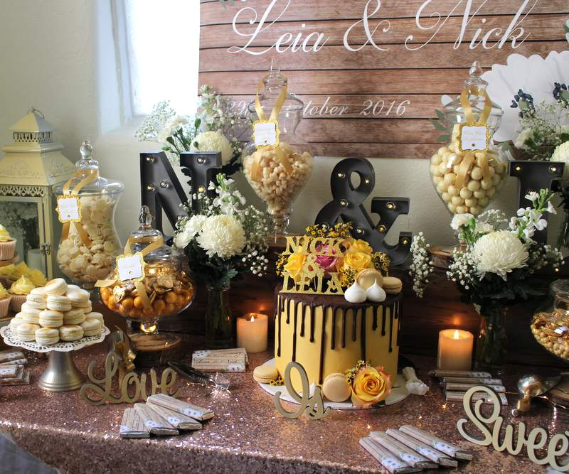 Rustic Engagement buffet