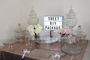 DIY candy and dessert buffet hire