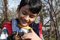 enfant avec chien