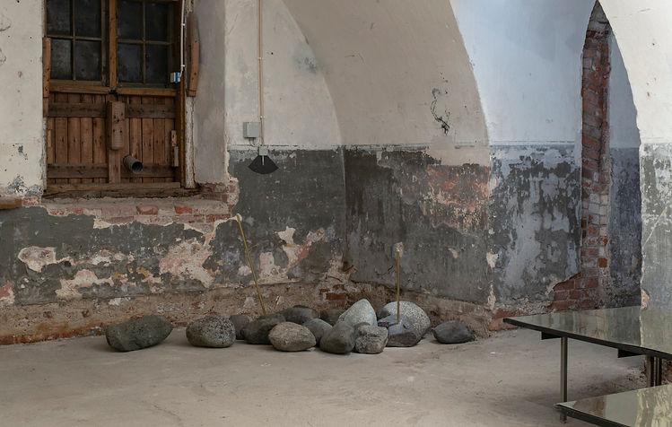 Stone storage of Eons and Instants installation in Helsinki Biennial 2021