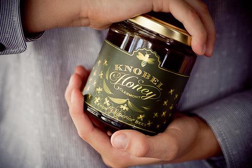 300g Knobel Honey in a Glass Bottle