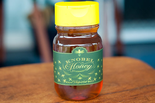 500g Knobel Honey in a Plastic Squeeze Bottle