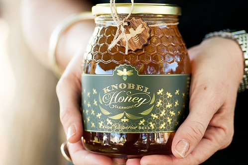 1kg Knobel Honey in a Glass Bottle