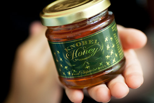 Small 100g Knobel Honey in a Glass Bottle
