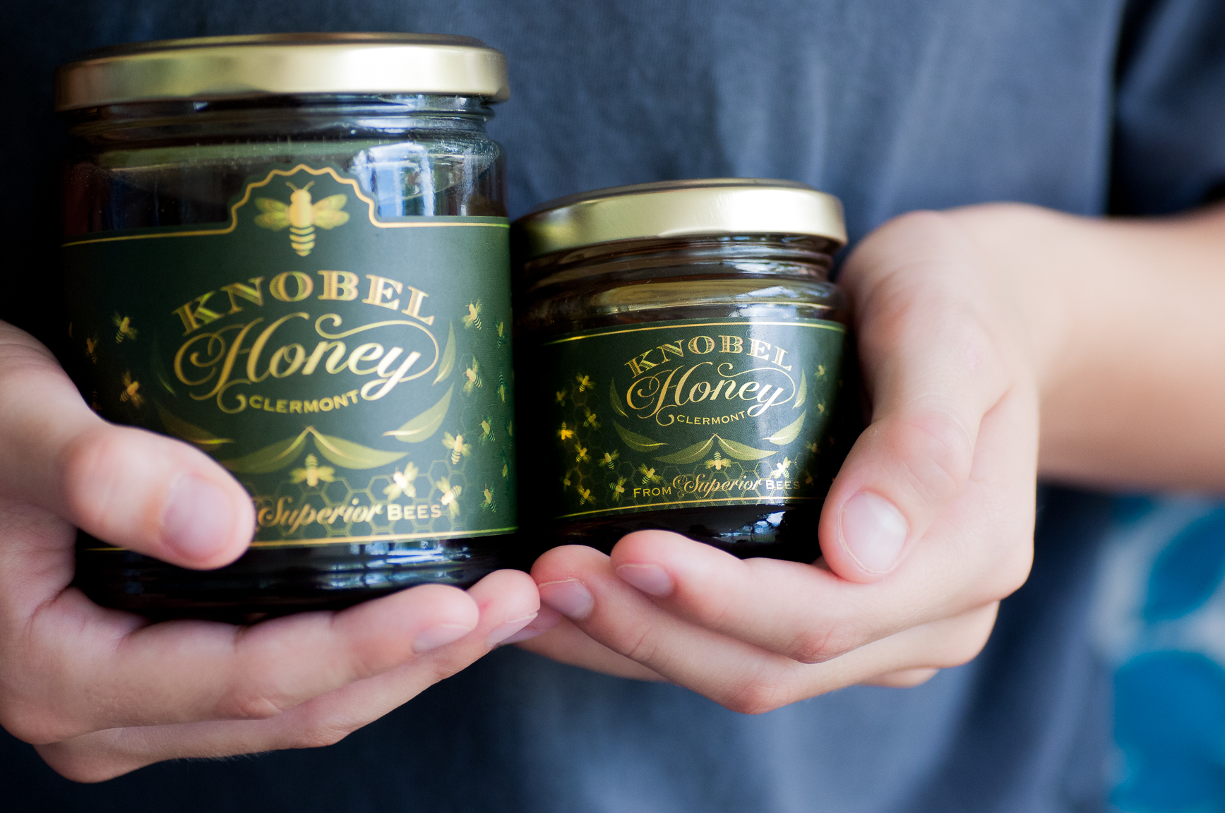 Knobel Honey in Glass