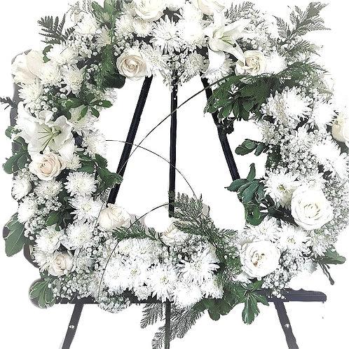 "Sympathy Wreath ""Pure"""