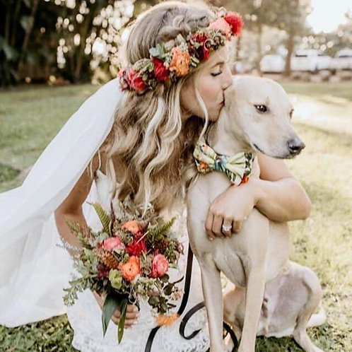 Bride Bouquet and Lei Po'o Package
