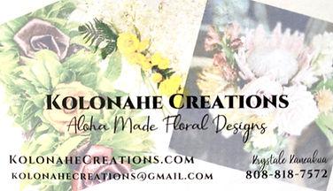 Maui Florist, Kolonahe Creations