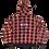 Thumbnail: Bandit Pattern Plaid Hoodie