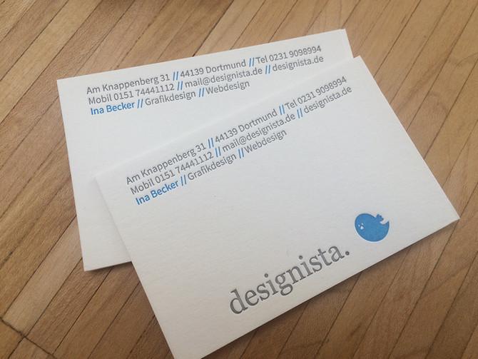 Visitenkarte mit Letterpress