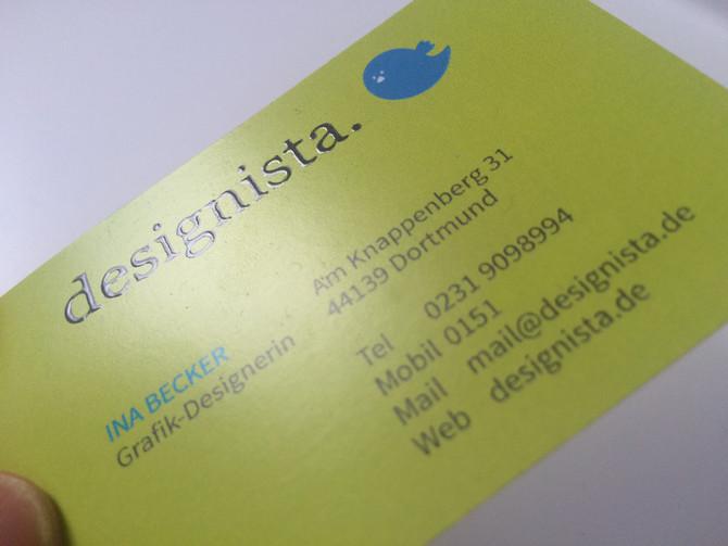 Visitenkarte mit Spotlack
