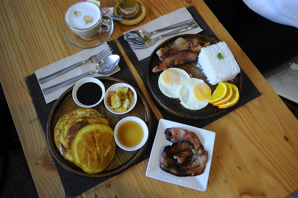Brunch Places Cebu M+S Cafe Banana Pancakes Banana Iced Tea