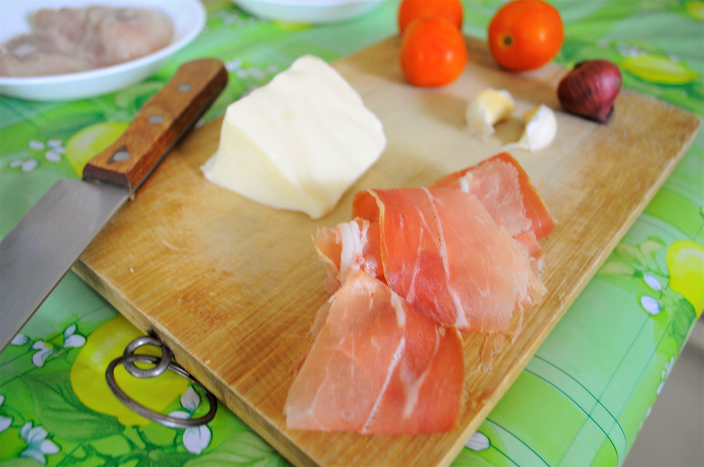 Ingredients for A Pasta Dish With Asiago Cheese