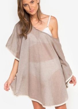 Chic Tees Beach Cover Up Poncho