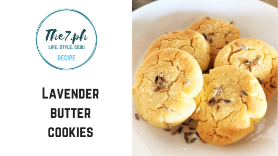 Super Easy Lavender Butter Cookies