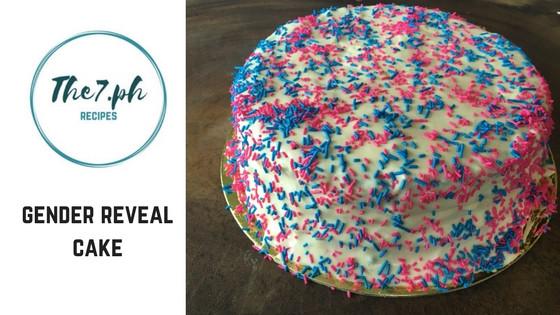 DIY Gender Reveal Cake