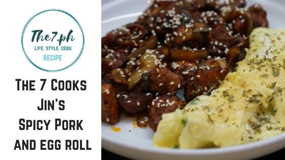 The 7 PH Cooks Jin's Spicy Pork And Egg Roll Recipe from Run BTS! Episode 102