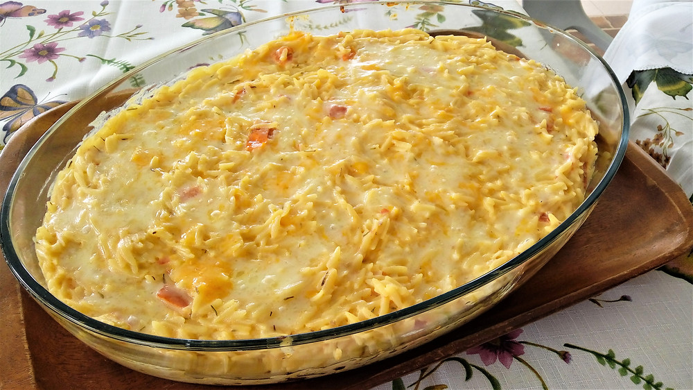 Cheesy Pasta Bake Recipe Using Orzo