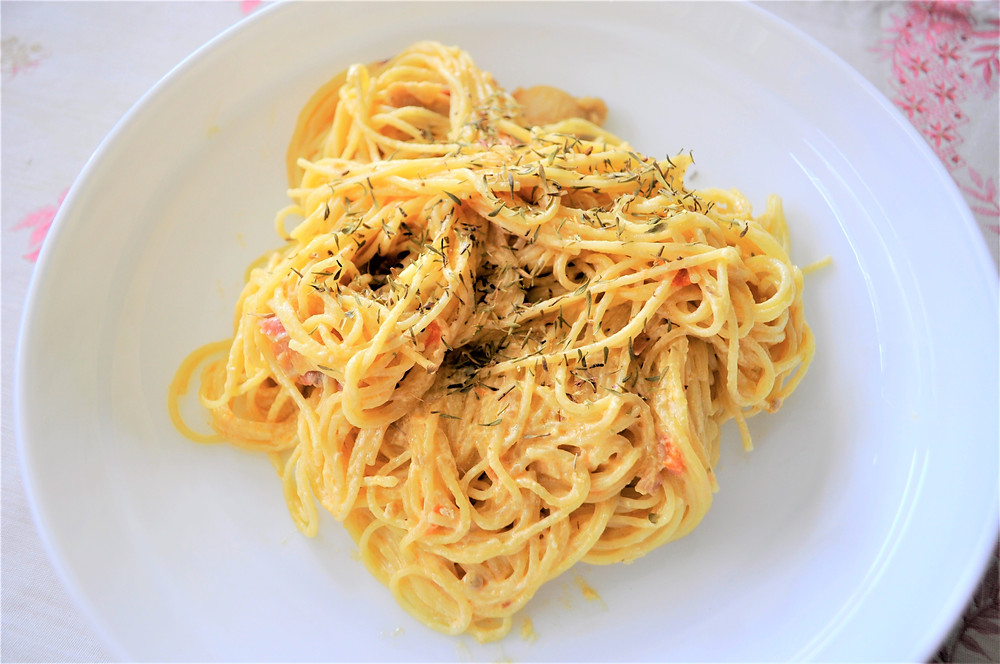 A Pasta Dish With Asiago Cheese